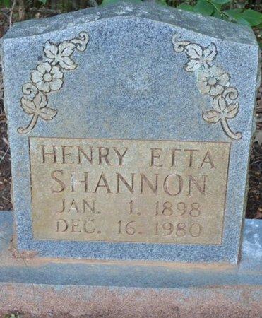 SHANNON, HENRY ETTA - Colbert County, Alabama | HENRY ETTA SHANNON - Alabama Gravestone Photos