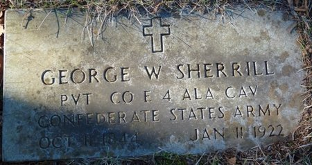 SHERRILL (VETERAN CSA), GEORGE W - Colbert County, Alabama | GEORGE W SHERRILL (VETERAN CSA) - Alabama Gravestone Photos