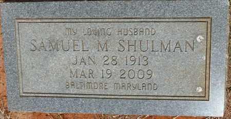 SHULMAN, SAMUEL M - Colbert County, Alabama | SAMUEL M SHULMAN - Alabama Gravestone Photos