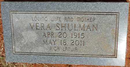SHULMAN, VERA - Colbert County, Alabama   VERA SHULMAN - Alabama Gravestone Photos