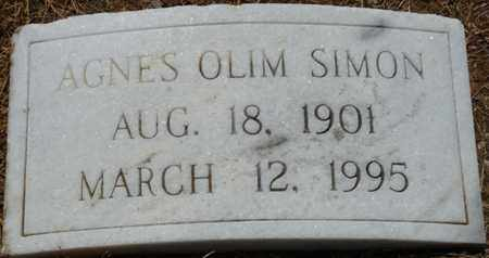 OLIM SIMON, AGNES - Colbert County, Alabama | AGNES OLIM SIMON - Alabama Gravestone Photos