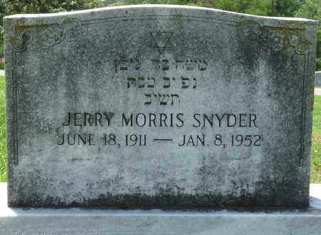SNYDER, JERRY MORRIS - Colbert County, Alabama | JERRY MORRIS SNYDER - Alabama Gravestone Photos