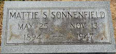 SONNENFIELD, MATTIE S - Colbert County, Alabama | MATTIE S SONNENFIELD - Alabama Gravestone Photos