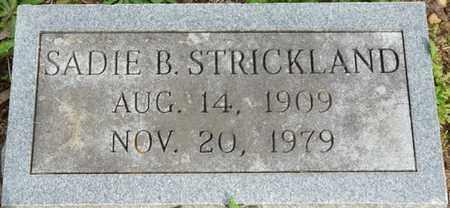 STRICKLAND, SADIE B - Colbert County, Alabama   SADIE B STRICKLAND - Alabama Gravestone Photos