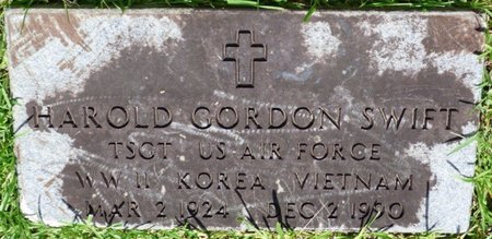 "SWIFT (VETERAN WWII KOR VIET), HAROLD GORDON ""SWIFTY"" - Colbert County, Alabama | HAROLD GORDON ""SWIFTY"" SWIFT (VETERAN WWII KOR VIET) - Alabama Gravestone Photos"