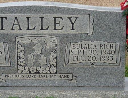RICH TALLEY, EULALIA - Colbert County, Alabama   EULALIA RICH TALLEY - Alabama Gravestone Photos