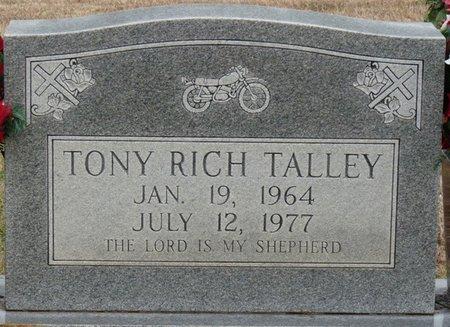 TALLEY, TONY RICH - Colbert County, Alabama   TONY RICH TALLEY - Alabama Gravestone Photos
