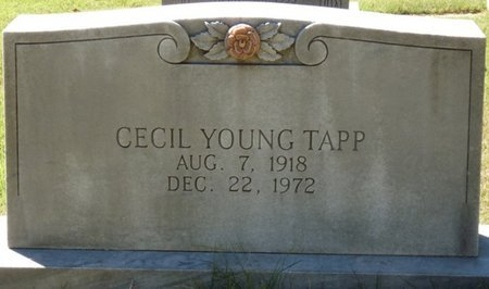 TAPP, CECIL YOUNG - Colbert County, Alabama | CECIL YOUNG TAPP - Alabama Gravestone Photos