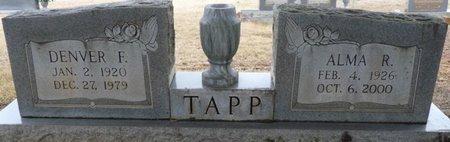 TAPP, DENVER F - Colbert County, Alabama | DENVER F TAPP - Alabama Gravestone Photos