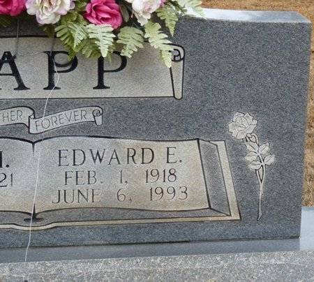 TAPP, EDWARD E - Colbert County, Alabama | EDWARD E TAPP - Alabama Gravestone Photos