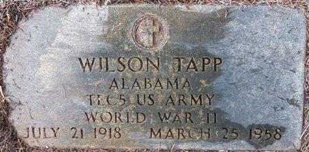 TAPP (VETERAN WWII), WILSON - Colbert County, Alabama | WILSON TAPP (VETERAN WWII) - Alabama Gravestone Photos