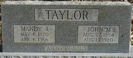 TAYLOR, JOHN M - Colbert County, Alabama | JOHN M TAYLOR - Alabama Gravestone Photos