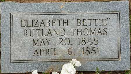 "THOMAS, ELIZABETH ""BETTIE"" - Colbert County, Alabama | ELIZABETH ""BETTIE"" THOMAS - Alabama Gravestone Photos"