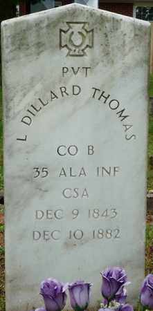 THOMAS (VETERAN), LEMUEL DILLARD - Colbert County, Alabama | LEMUEL DILLARD THOMAS (VETERAN) - Alabama Gravestone Photos