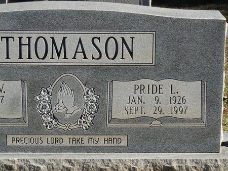 THOMASON, PRIDE LEE - Colbert County, Alabama | PRIDE LEE THOMASON - Alabama Gravestone Photos
