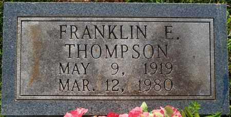 THOMPSON, FRANKLIN E - Colbert County, Alabama   FRANKLIN E THOMPSON - Alabama Gravestone Photos