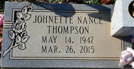 THOMPSON, JOHNETTE NANCE - Colbert County, Alabama | JOHNETTE NANCE THOMPSON - Alabama Gravestone Photos
