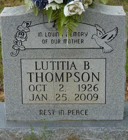 THOMPSON, LUTITIA B - Colbert County, Alabama | LUTITIA B THOMPSON - Alabama Gravestone Photos