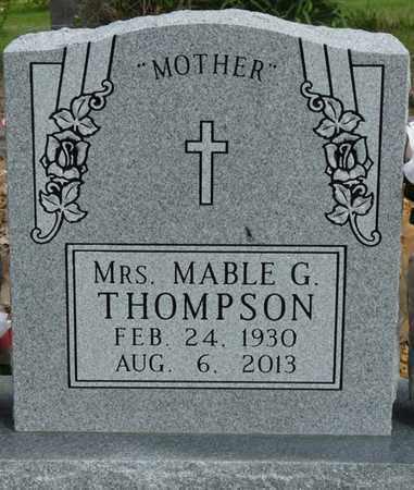THOMPSON, MABLE G - Colbert County, Alabama   MABLE G THOMPSON - Alabama Gravestone Photos