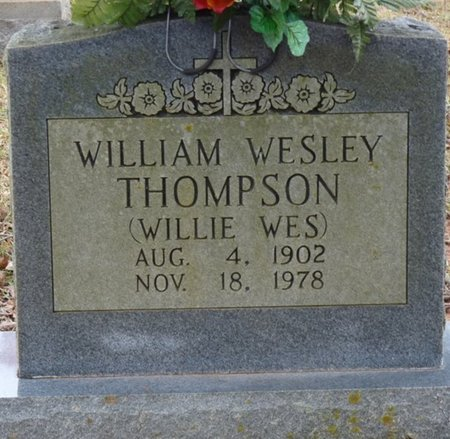 "THOMPSON, WILLIAM WESLEY ""WILLIE WES"" - Colbert County, Alabama 