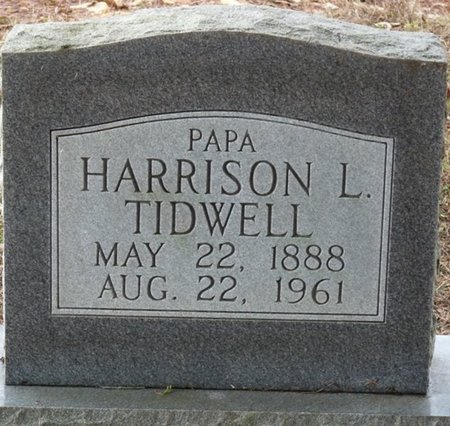 TIDWELL, HARRISON L - Colbert County, Alabama | HARRISON L TIDWELL - Alabama Gravestone Photos