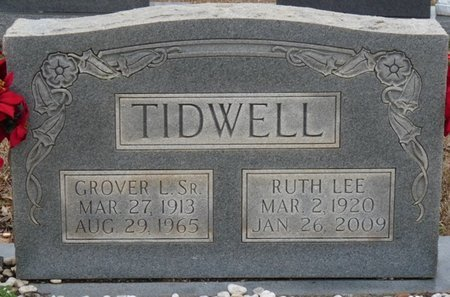 TIDWELL SR., GROVER L - Colbert County, Alabama   GROVER L TIDWELL SR. - Alabama Gravestone Photos