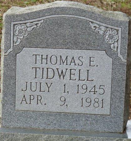 TIDWELL, THOMAS E - Colbert County, Alabama   THOMAS E TIDWELL - Alabama Gravestone Photos