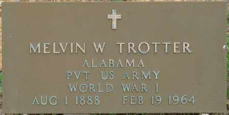 TROTTER (VETERAN WWI), MELVIN W - Colbert County, Alabama   MELVIN W TROTTER (VETERAN WWI) - Alabama Gravestone Photos