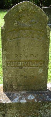 TURBIVILLE, MARY - Colbert County, Alabama | MARY TURBIVILLE - Alabama Gravestone Photos