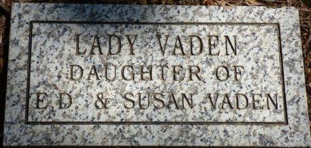 VADEN, LADY - Colbert County, Alabama | LADY VADEN - Alabama Gravestone Photos