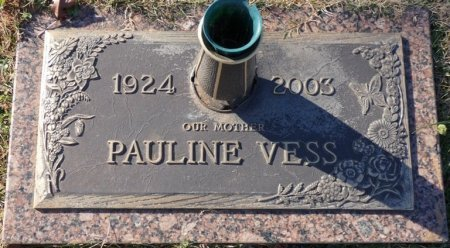 VESS, PAULINE - Colbert County, Alabama | PAULINE VESS - Alabama Gravestone Photos