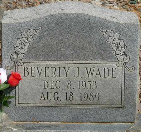 WADE, BEVERLY J - Colbert County, Alabama | BEVERLY J WADE - Alabama Gravestone Photos