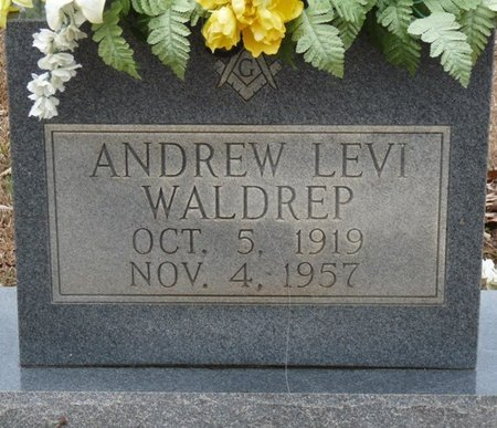 WALDREP, ANDREW LEVI - Colbert County, Alabama | ANDREW LEVI WALDREP - Alabama Gravestone Photos