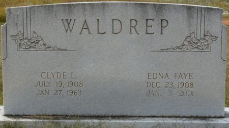 WALDREP, EDNA FAYE - Colbert County, Alabama | EDNA FAYE WALDREP - Alabama Gravestone Photos