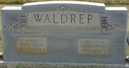 WALDREP, ARNETHIA - Colbert County, Alabama | ARNETHIA WALDREP - Alabama Gravestone Photos