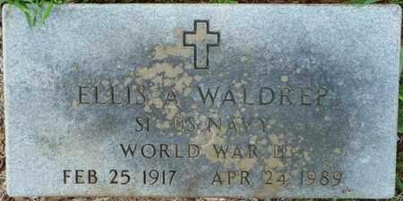 WALDREP (VETERAN WWII), ELLIS A - Colbert County, Alabama | ELLIS A WALDREP (VETERAN WWII) - Alabama Gravestone Photos