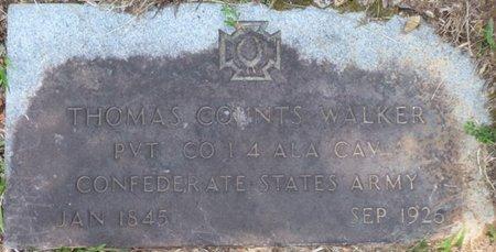 WALKER (VETERAN CSA), THOMAS COUNTS - Colbert County, Alabama | THOMAS COUNTS WALKER (VETERAN CSA) - Alabama Gravestone Photos