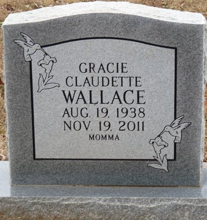 WALLACE, GRACIE CLAUDETTE - Colbert County, Alabama | GRACIE CLAUDETTE WALLACE - Alabama Gravestone Photos