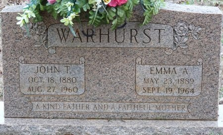 WARHURST, JOHN THOMAS - Colbert County, Alabama | JOHN THOMAS WARHURST - Alabama Gravestone Photos