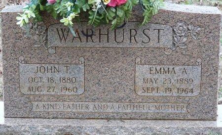 WARHURST, EMMA ALABAMA - Colbert County, Alabama | EMMA ALABAMA WARHURST - Alabama Gravestone Photos