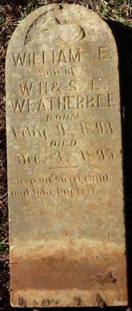WEATHERBEE, WILLIAM E - Colbert County, Alabama   WILLIAM E WEATHERBEE - Alabama Gravestone Photos