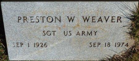 WEAVER (VETERAN), PRESTON W - Colbert County, Alabama | PRESTON W WEAVER (VETERAN) - Alabama Gravestone Photos