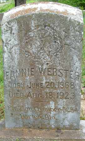 WEBSTER, FANNIE - Colbert County, Alabama | FANNIE WEBSTER - Alabama Gravestone Photos