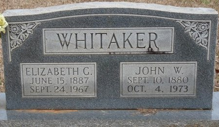 GLOVER WHITAKER, ELIZABETH - Colbert County, Alabama | ELIZABETH GLOVER WHITAKER - Alabama Gravestone Photos