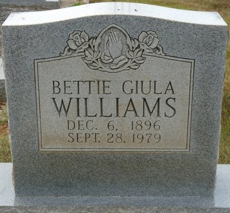 WILLIAMS, BETTIE GIULA - Colbert County, Alabama | BETTIE GIULA WILLIAMS - Alabama Gravestone Photos