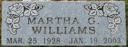 WILLIAMS, MARTHA G - Colbert County, Alabama | MARTHA G WILLIAMS - Alabama Gravestone Photos