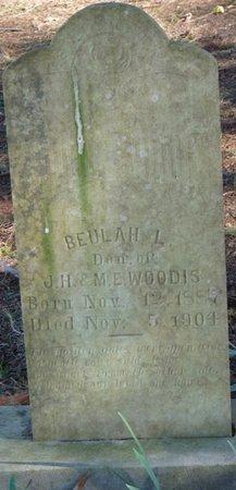 WOODIS, BEULAH L - Colbert County, Alabama | BEULAH L WOODIS - Alabama Gravestone Photos