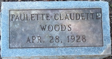 WOODS, PAULETTE-CLAUDETTE - Colbert County, Alabama | PAULETTE-CLAUDETTE WOODS - Alabama Gravestone Photos