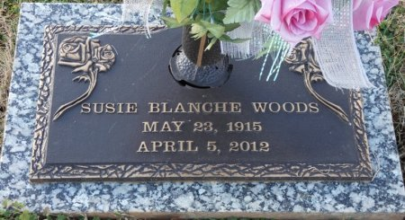WOODS, SUSIE BLANCHE - Colbert County, Alabama | SUSIE BLANCHE WOODS - Alabama Gravestone Photos