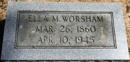 WORSHAM, ELLA M - Colbert County, Alabama | ELLA M WORSHAM - Alabama Gravestone Photos